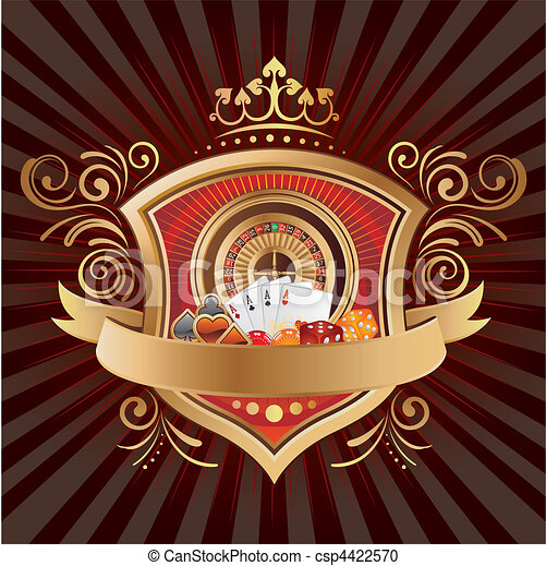 Fondo de casino - csp4422570