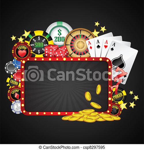 Un fondo casino - csp8297595