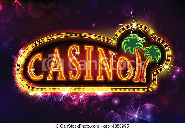 Un fondo casino - csp14386995