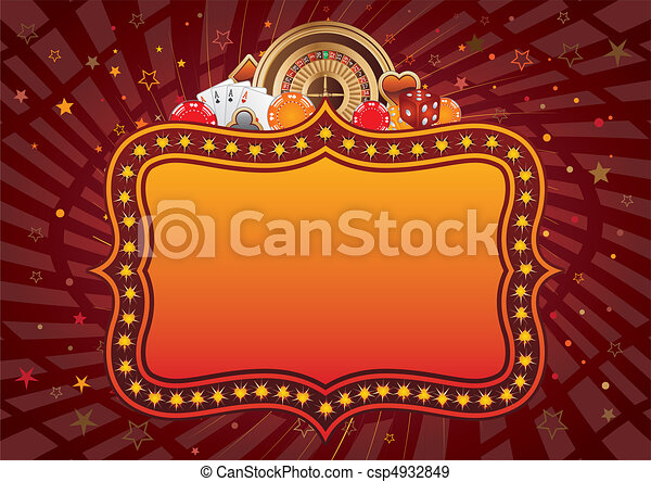 Un fondo casino - csp4932849