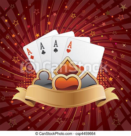 Un fondo casino - csp4459664