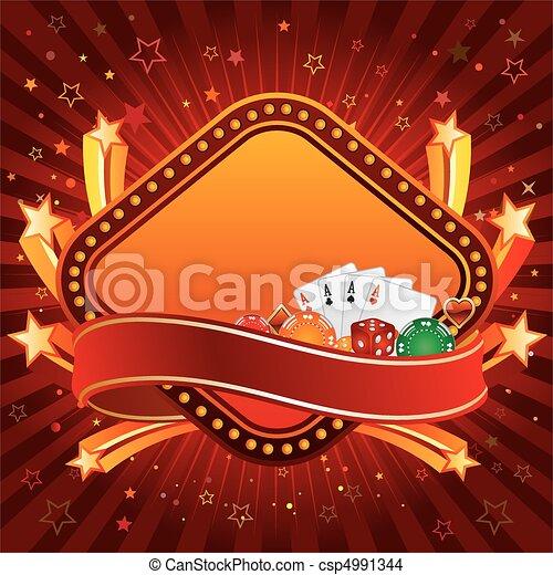 Un fondo casino - csp4991344