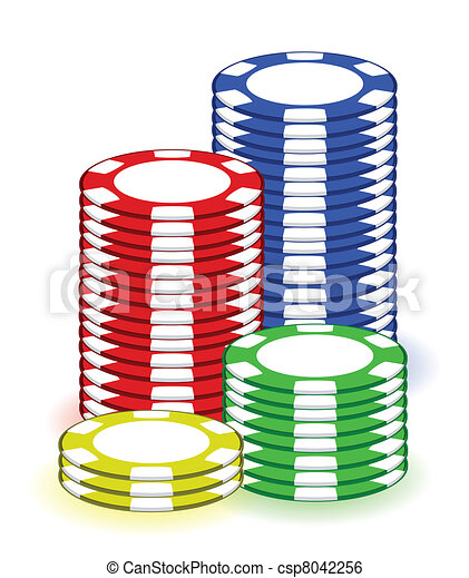 casino poker chips illustration design on white background clip art rh canstockphoto com