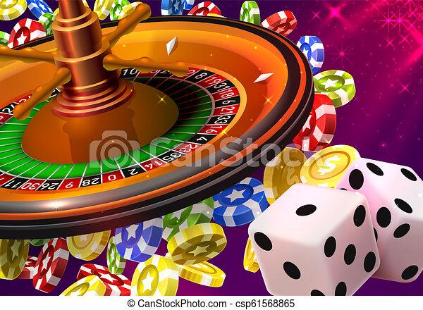 La ruleta del casino gana mucho dinero. - csp61568865