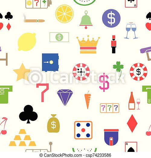 casino seamless pattern background icon. - csp74233586