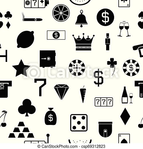casino seamless pattern background icon. - csp69312823