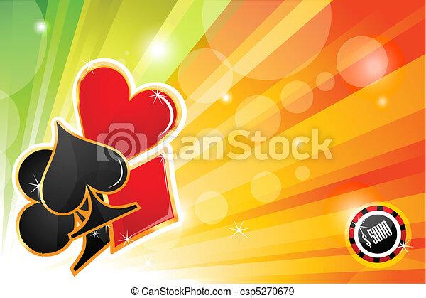 Tarjeta de casino - csp5270679
