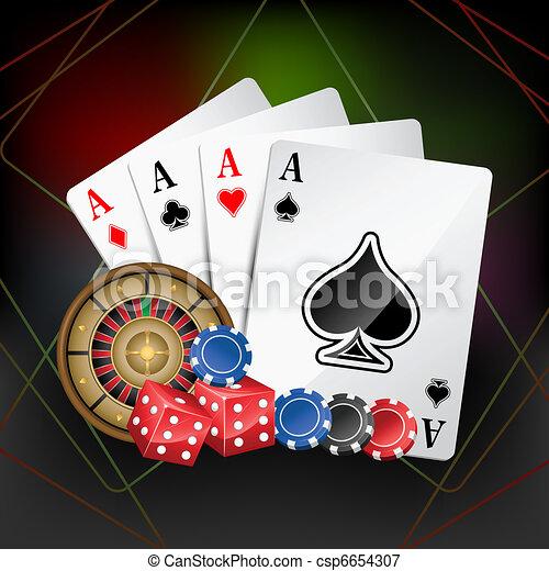 Tarjeta de casino - csp6654307