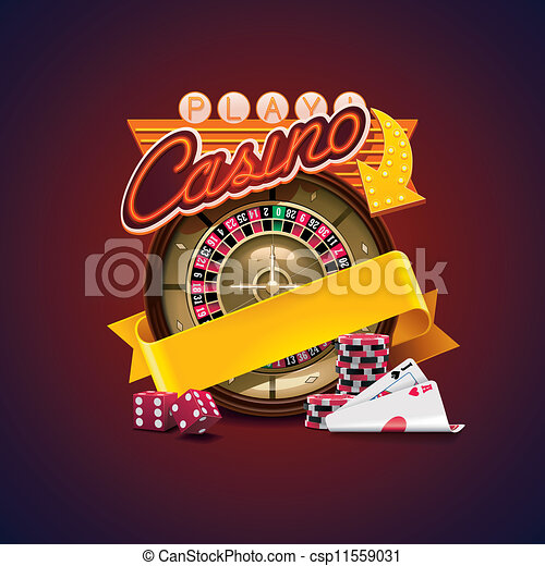 casino, vector, pictogram - csp11559031