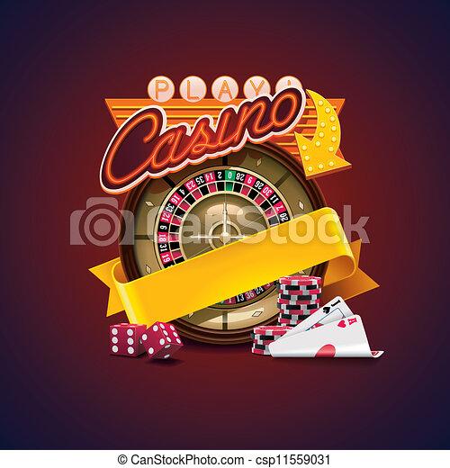 casino, vector, pictogram - csp11559031