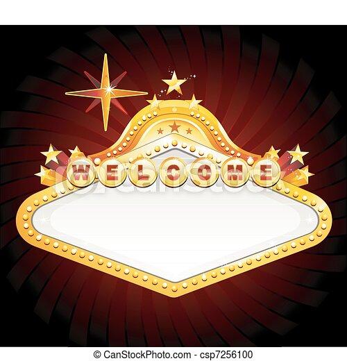 La señal del casino de Las Vegas - csp7256100