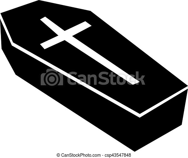 casket with big cross eps vector search clip art illustration rh canstockphoto com coffin clipart black and white coffin clipart black and white