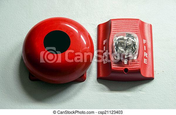 caso, construído, fogo, luz, alarme, alerta, strobe - csp21123403