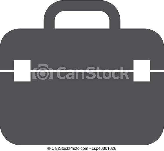 caso, illustrazione, fondo., vettore, nero, bianco, icona - csp48801826