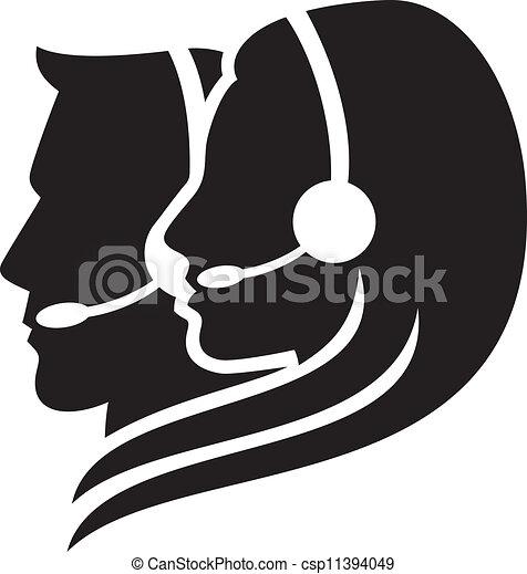 casque à écouteurs, symbole, headset), (women - csp11394049