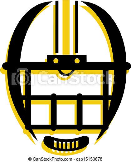 casque, graphique, contour, football - csp15150678