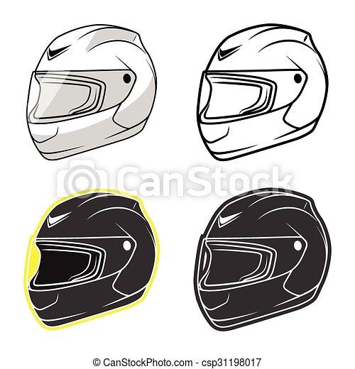 Casque moto illustration casque moto gris - Dessin casque moto ...