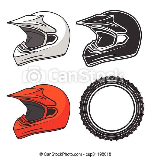 Casque moto terre illustration ktm vecteur casque - Dessin casque moto ...