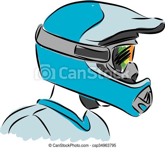 Casque motocross illustration vecteurs eps rechercher - Dessin casque moto ...