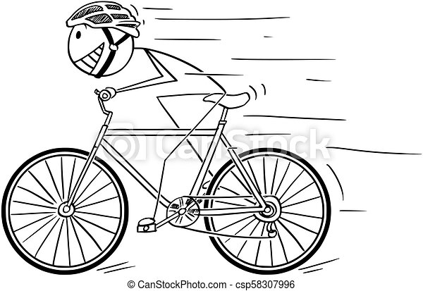 Casque Velo Jeune Equitation Dessin Anime Homme Casque Cyclisme Illustration Dessin Anime Jeune Homme Equitation Canstock