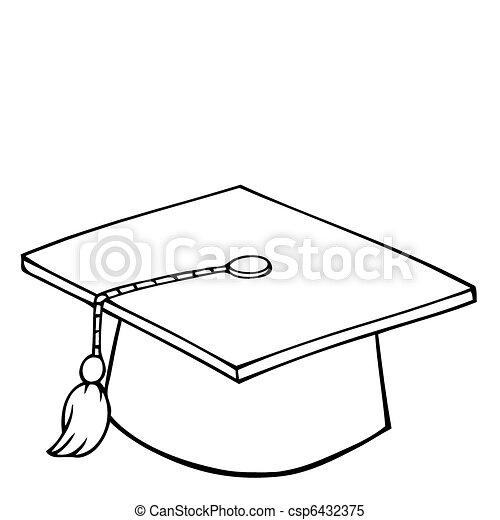 casquette, remise de diplomes, esquissé - csp6432375
