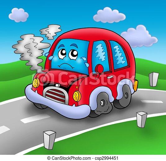 Cass dessin anim route voiture illustration couleur voiture cass dessin anim route - Accident de voiture dessin ...