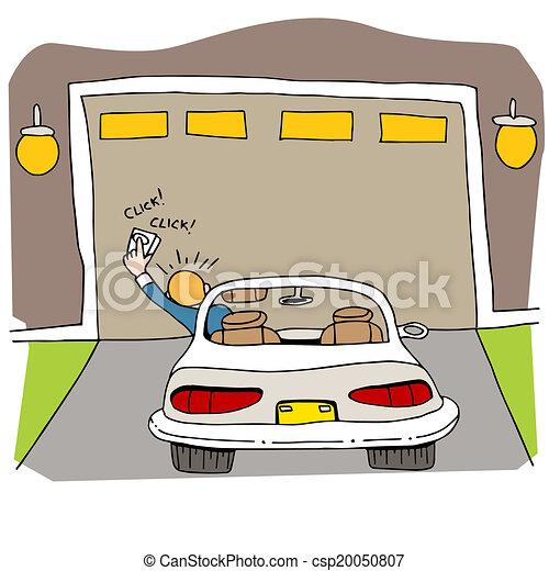 cassé, porte, garage - csp20050807