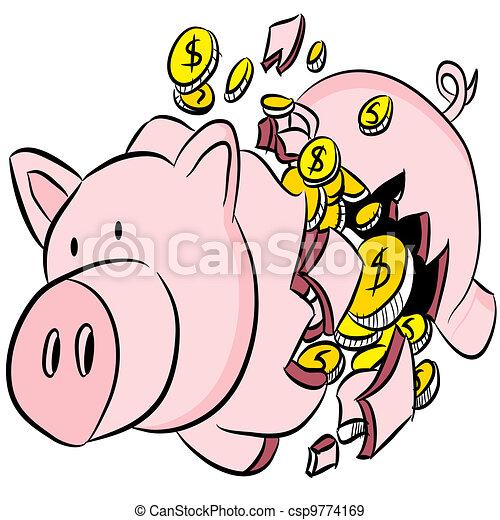 Cass tirelire cass image bank porcin vecteurs eps - Tirelire dessin ...