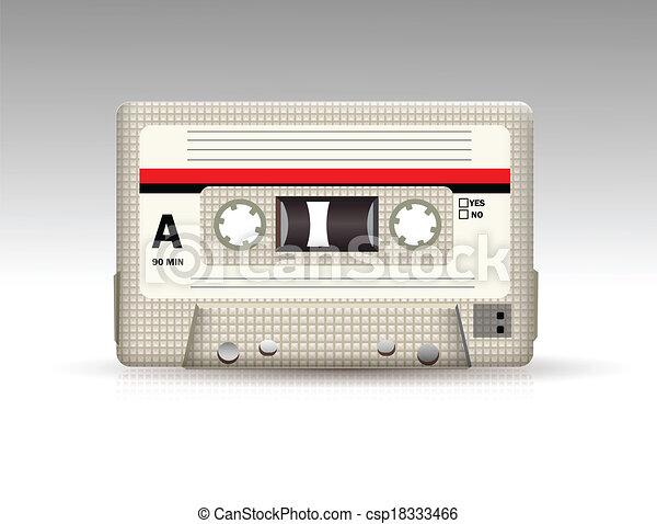 cassete áudio - csp18333466