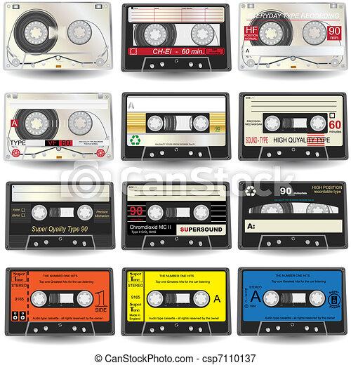 Cassette Icons - csp7110137