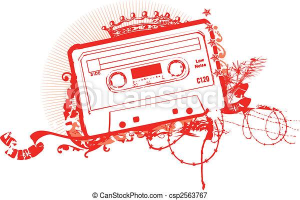 Cassette Tape Stenci - csp2563767