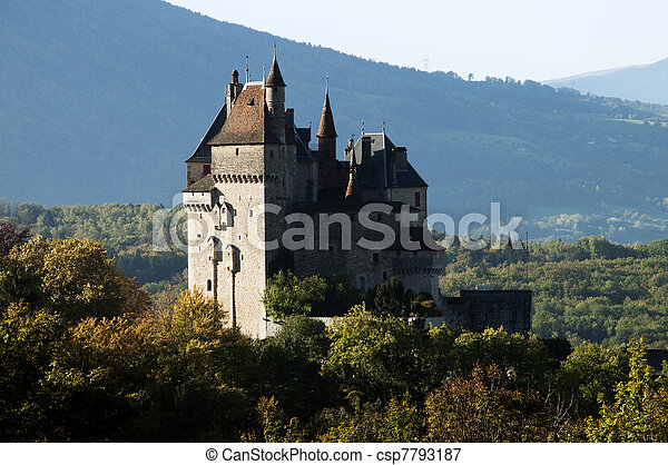 Castel of Menthon in France - csp7793187