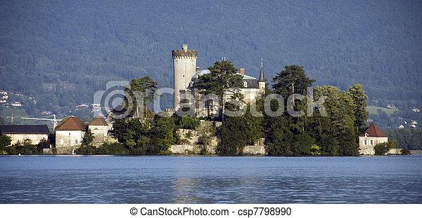 Castel on lake Annecy - csp7798990