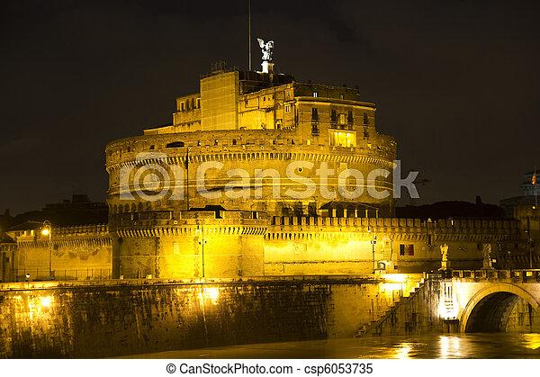 Castel Sant'Angelo, Rome, Italy - csp6053735