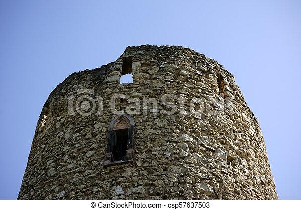 castello, cima, verna-park, rovine, torre - csp57637503