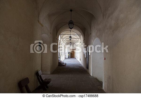 castello, corridoio - csp17488688