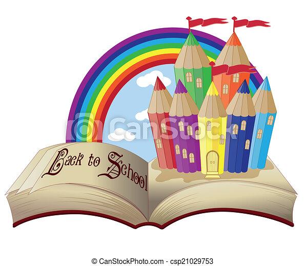 Castello libro scuola magia indietro scuola magia for Scuola clipart