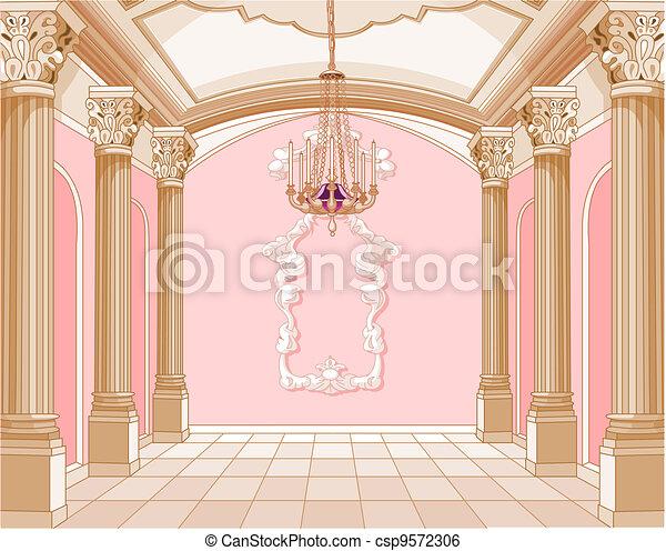 castello, magia, sala ballo - csp9572306
