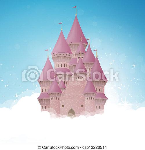 castello, vettore, cartone animato - csp13228514