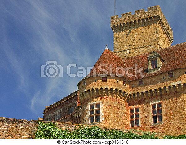 Castelnau Castle fortification, - csp3161516