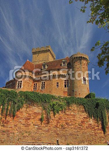 Castelnau Castle fortification, - csp3161372