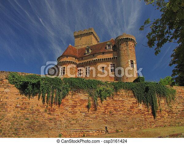 Castelnau Castle fortification, - csp3161424
