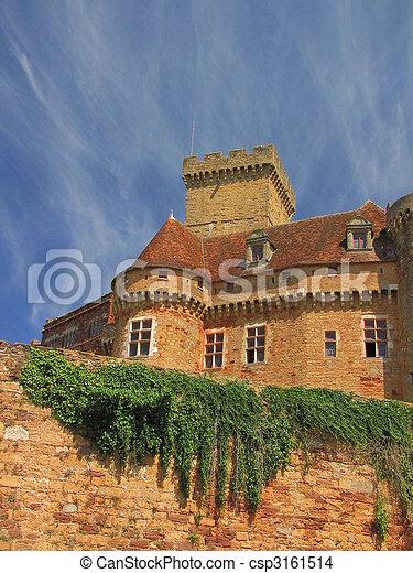 Castelnau Castle fortification, - csp3161514