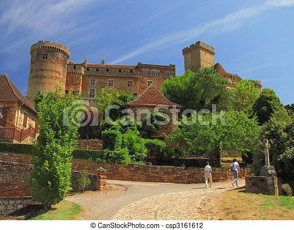 Castelnau Castle fortification, - csp3161612
