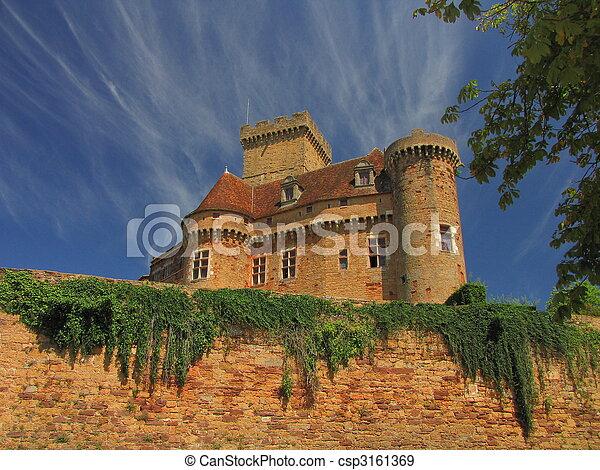 Castelnau Castle fortification, - csp3161369