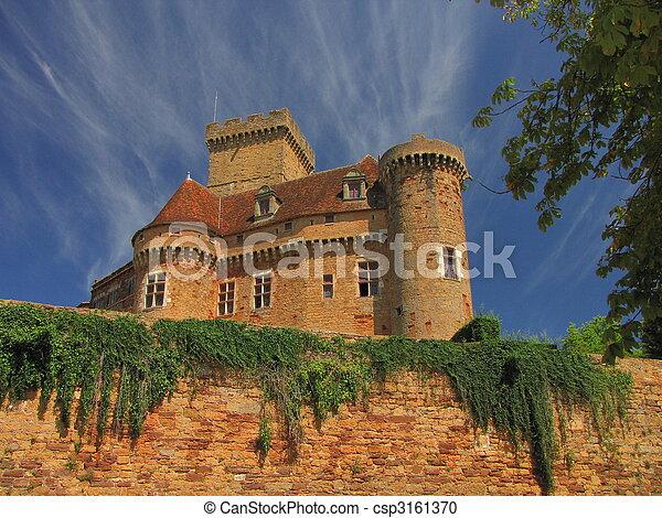 Castelnau Castle fortification, - csp3161370