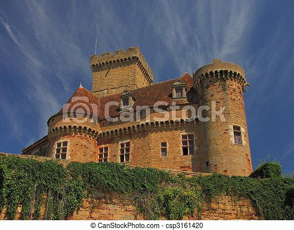 Castelnau Castle fortification, - csp3161420
