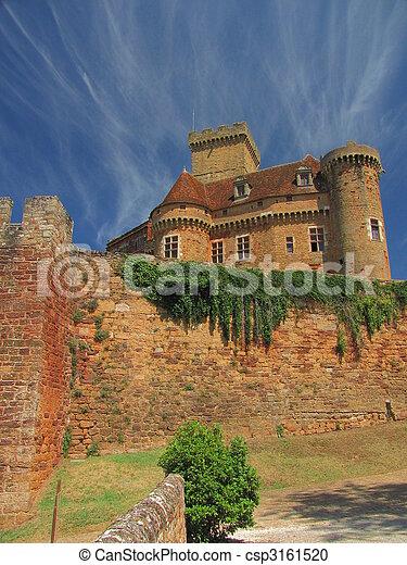 Castelnau Castle fortification, - csp3161520