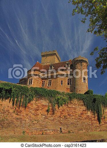 Castelnau Castle fortification, - csp3161423
