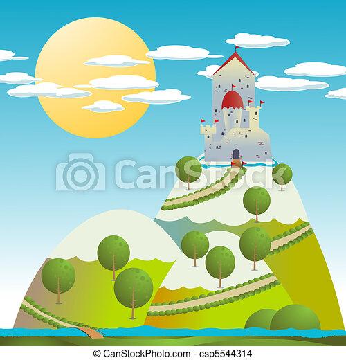 castelo, desenho - csp5544314